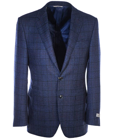 Canali - Navy with Purple Wool Check Jacket CF02226.301
