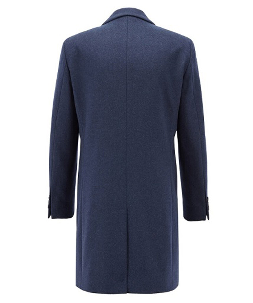 Hugo Boss - NYE2 Indigo Blue Cashmere and Wool Overcoat 50394082