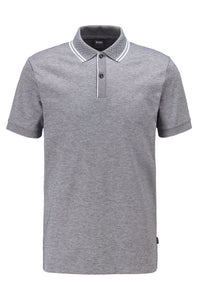 Hugo Boss - PARLAY 110 Dark Blue Pique Polo Shirt With Tipping Detail 50451169
