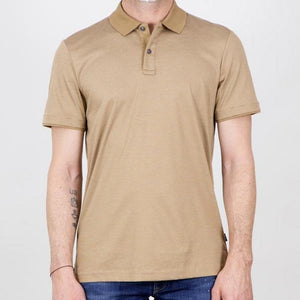 Hugo Boss - PHILLIPSON 82 Medium Beige Striped Slim Fit Polo Shirt 50449371