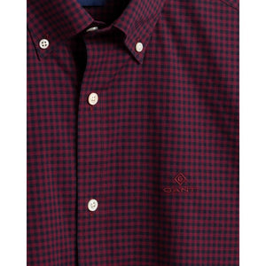 GANT - Regular Fit 2-Color Gingham Broadcloth Shirt in Port Red 3064000