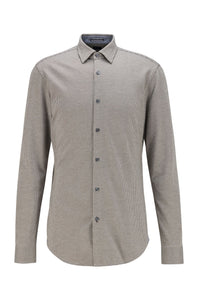 Hugo Boss - Grey Patterned Slim Fit Jersey Cotton Shirt 50438906