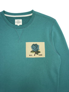 Kent & Curwen - 1926 Sweatshirt With Rose Patch in Mint Green K4100193R4-44