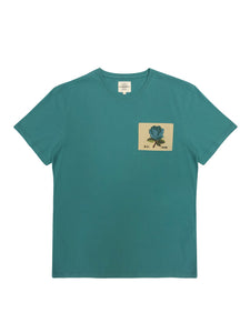 Kent & Curwen - 1926 T-Shirt with Rose in Mint K4100211R4-44