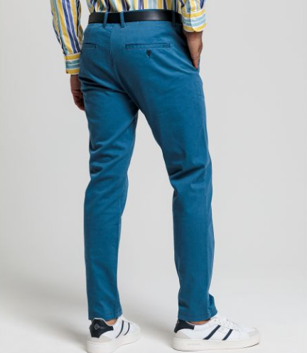 Gant - Slim Fit Satin Chinos in Insignia Blue