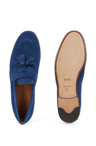 Hugo Boss - Soho_Loaf_sdts - Suede Tassle Loafers in Navy Blue