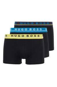Hugo Boss - 3-Pack of Stretch-Cotton Trunks With Logo Waistbands 50449458
