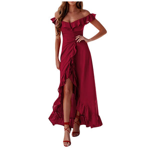 Sami cascading ruffle dress