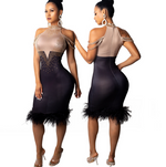Load image into Gallery viewer, Feadi Off-Shoulder Dress