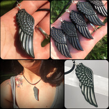 Load image into Gallery viewer, Black Obsidian Wing pendant