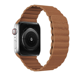 Magnetic Leather Apple Watch Band