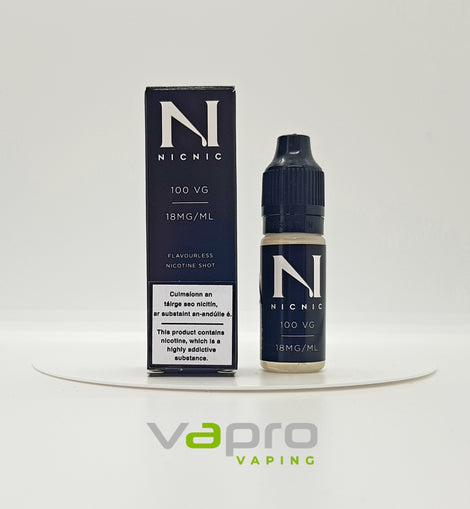 Nic Nic 100vg 10ml Nictone Shot 18mg - Vapro Vapes