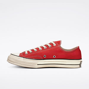 CHUCK 70 OX ENAMEL RED/EGRET/BLACK LOW TOP