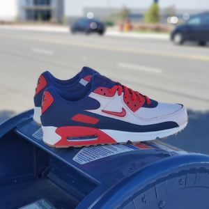NIKE AIR MAX 90 PRM HOME AND AWAY RED