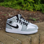 Load image into Gallery viewer, AIR JORDAN 1 MID LIGHT SMOKE GREY GS