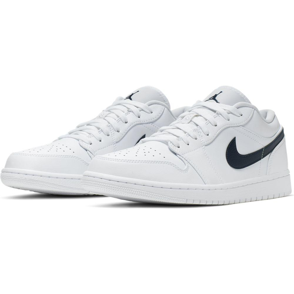 AIR JORDAN 1 LOW WHITE/OBSIDIA