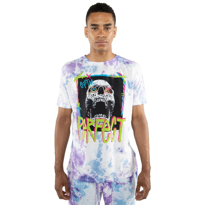 EPTM TIE DYED PERFECT TEE TURQ PURPLE