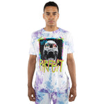 Load image into Gallery viewer, EPTM TIE DYED PERFECT TEE TURQ PURPLE