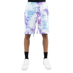 Load image into Gallery viewer, EPTM TIE DYED SHORTS LT BLUE PURPLE