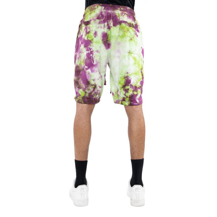 EPTM TIE DYED SHORTS LIME PINK