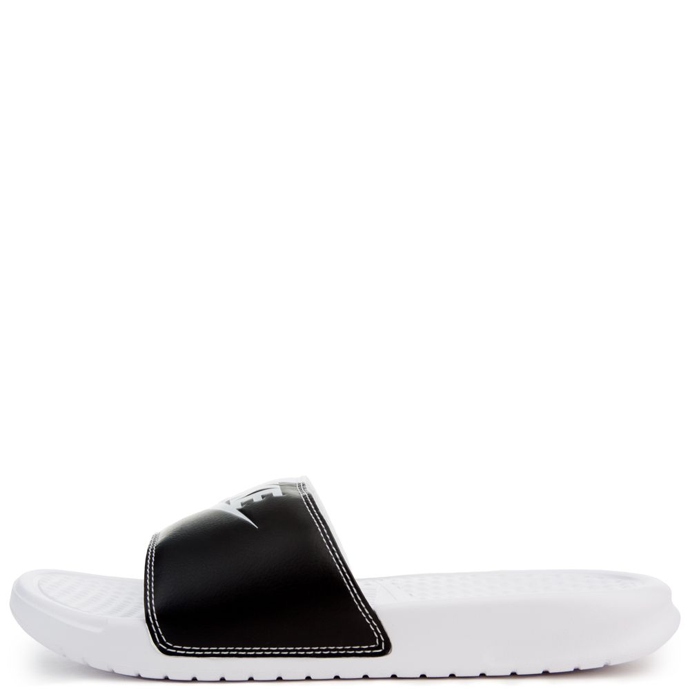 W BENASSI JDI SLIDES WHITE/PURE PLATINUM-BLACK