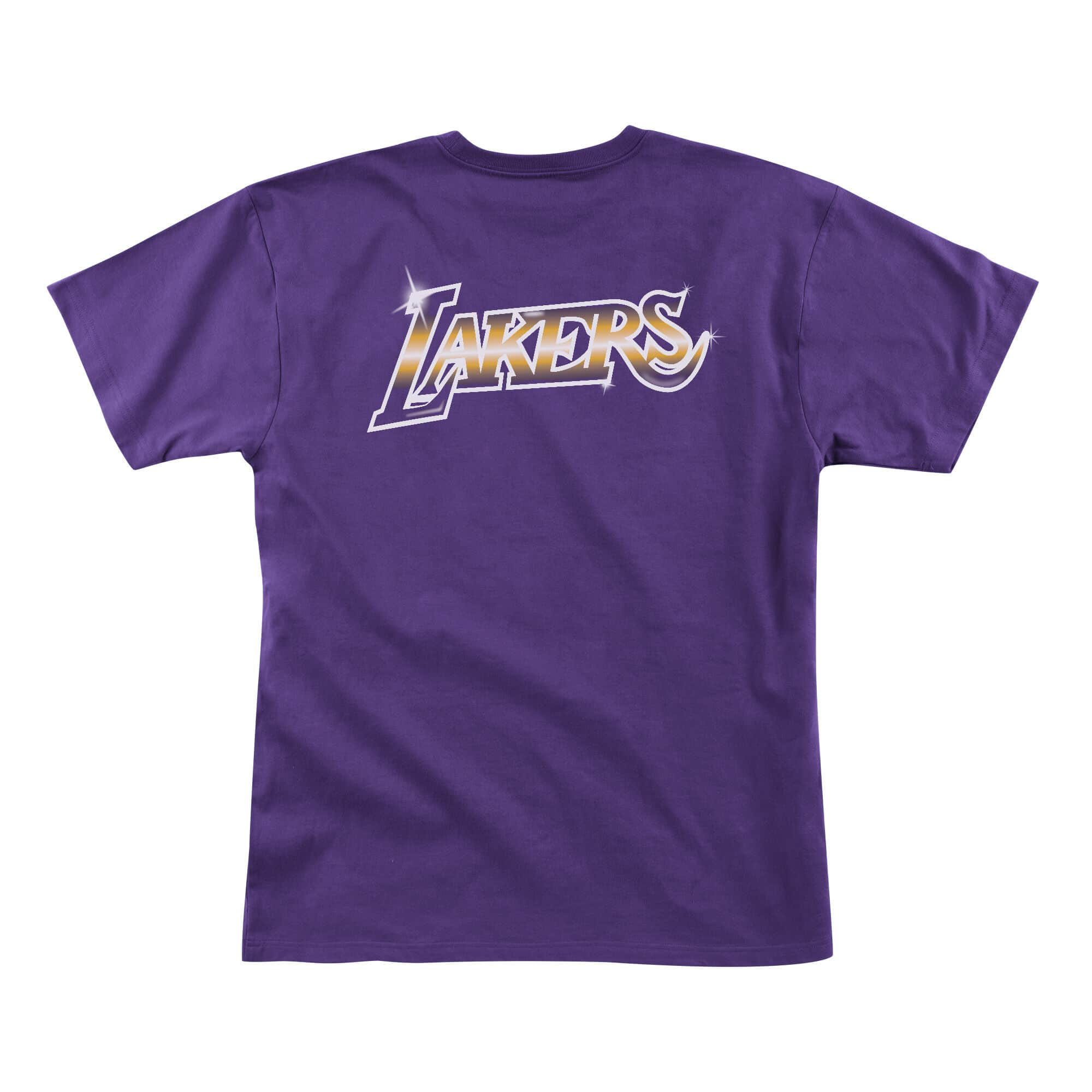 MITCHELL & NESS AIRBRUSH TEAM PURPLE TEE LOS ANGELES LAKERS