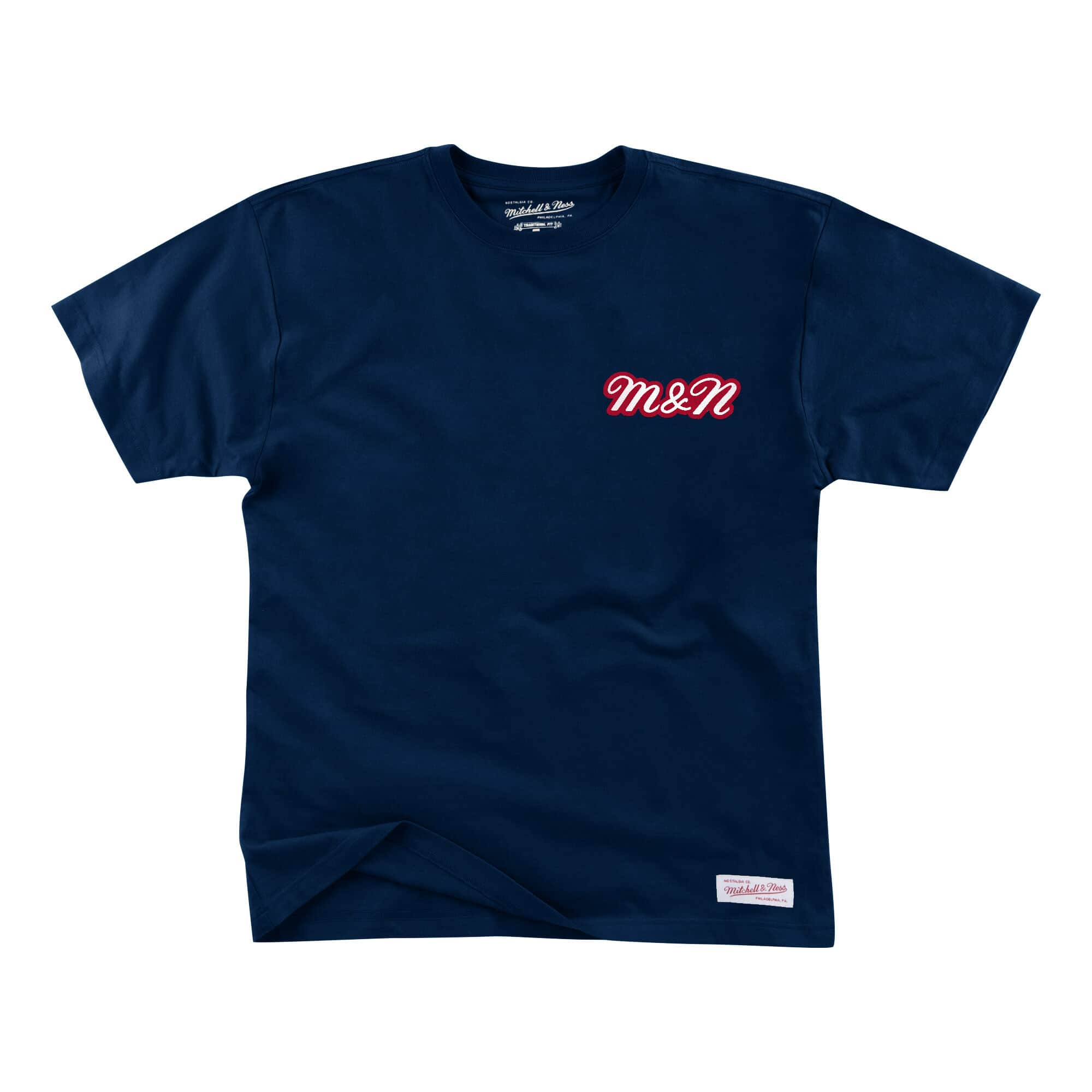BRANDED DISTRESSED SS TEE NAVY