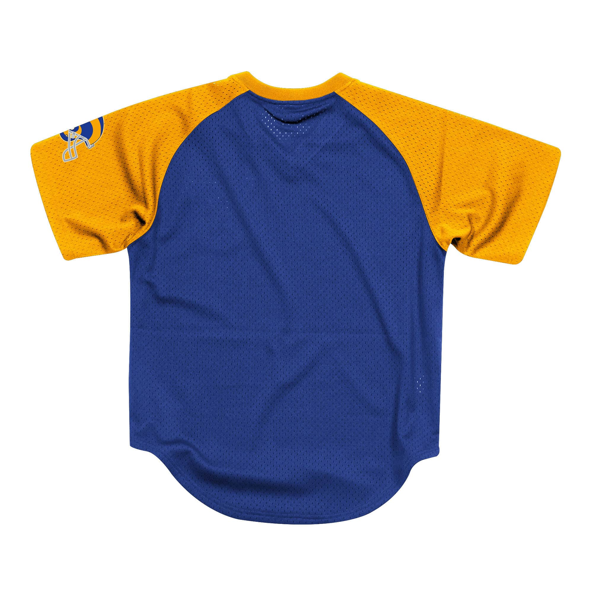 MITCHELL & NESS FINAL SECONDS MESH V-NECK LOS ANGELES RAMS BLUE/GOLD