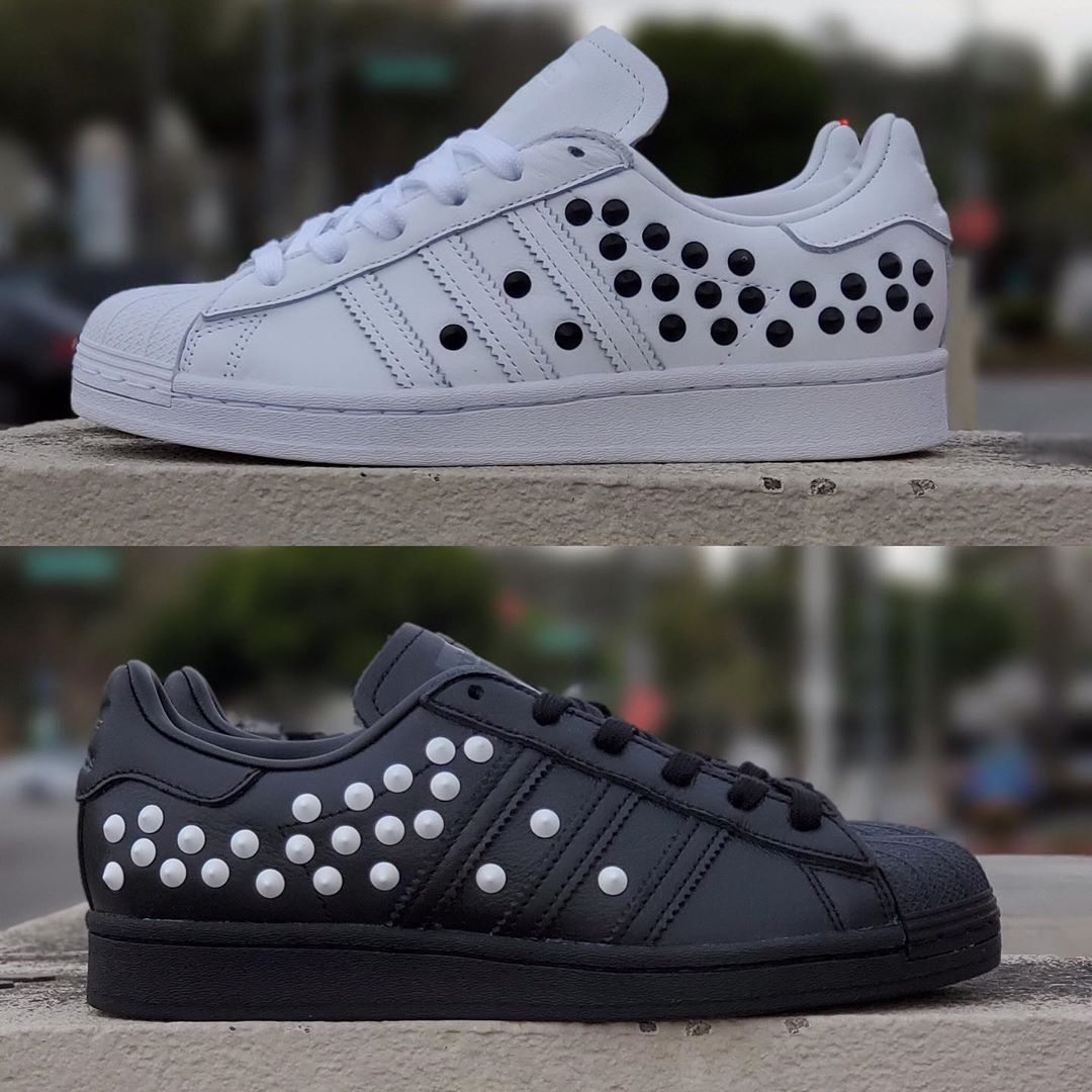 Superstar W Black White Studs