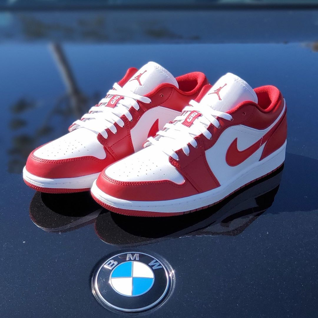 AIR JORDAN 1 LOW GS GYM RED/WHITE