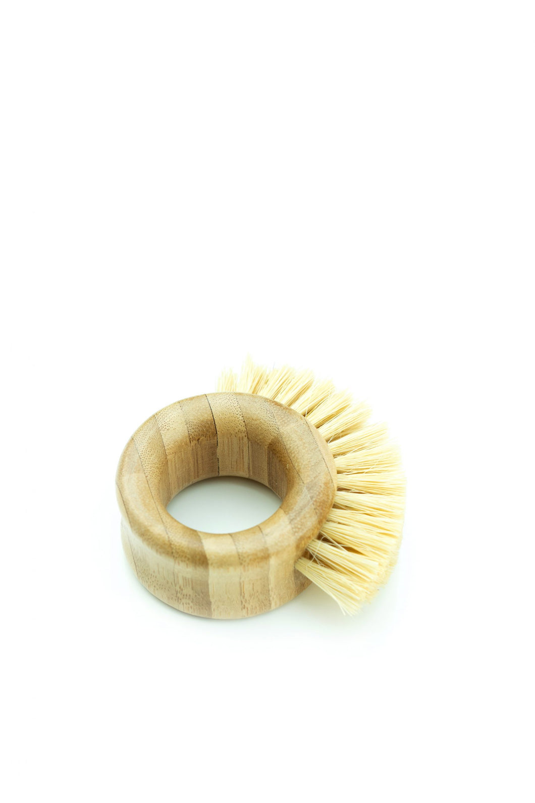 Ring Shaped Bamboo Scrubbing Brush