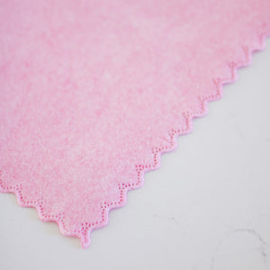 Pink Scalloped Coconut Husk Cloth