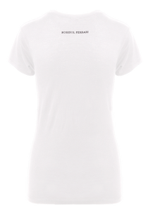 Norisol Ferrari cotton white T-shirt, back side.