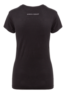 Norisol Ferrari cotton black T-shirt, back side.