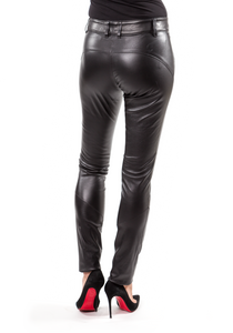Norisol Ferrari black leather pants, back side