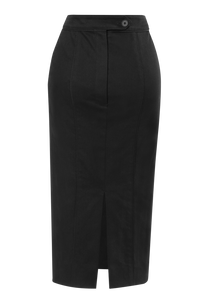 Norisol Ferrari black pencil skirt, back side