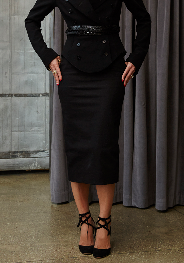 Norisol Ferrari black pencil skirt