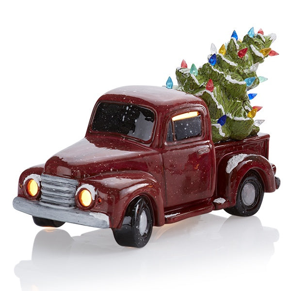 VINTAGE TRUCK WITH TREE W/LIGHT