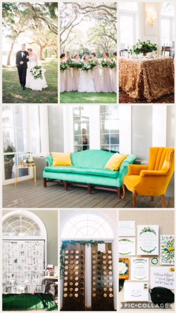 Wedding Vintage Furniture Rentals at Wachesaw Plantation