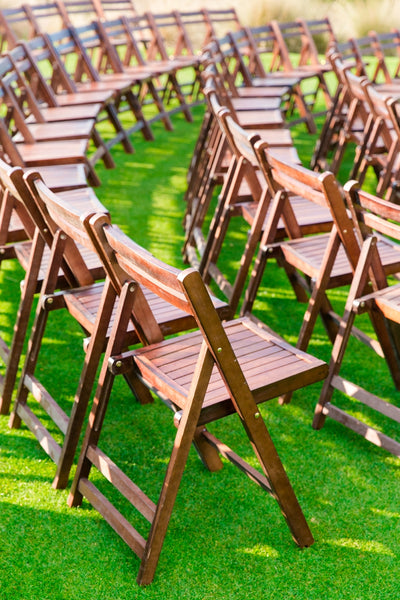 Our Walnut Wood Folding Chairs And Arbor Were A Great Fit Here Along With  Our Vintage Luggage Used Here.