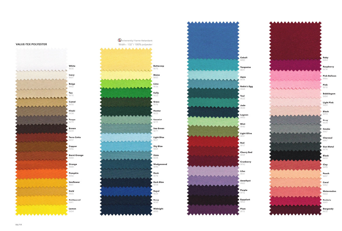 LINEN COLOR OPTIONS