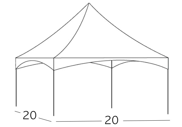 Tent [Frame - 20 x 20 High Peak Tent]