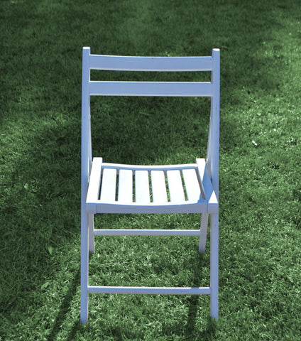 Chair [Folding - Wood White]
