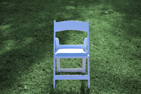 Chair [Folding - White Padded]