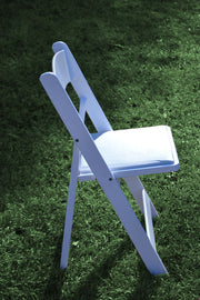 Chair [Folding - Padded White]