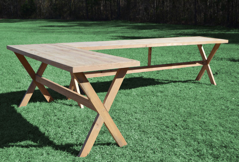 Farm Table - Rustic [Pub Table L-Shape - Natural Cypress