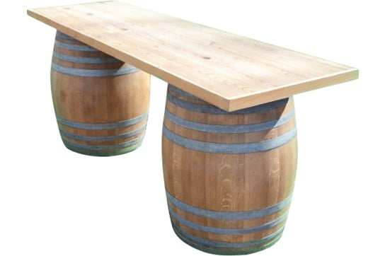 Lounge Wine Barrel Table Ruths House Event Rentals