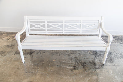 Lounge - White Garden Bench