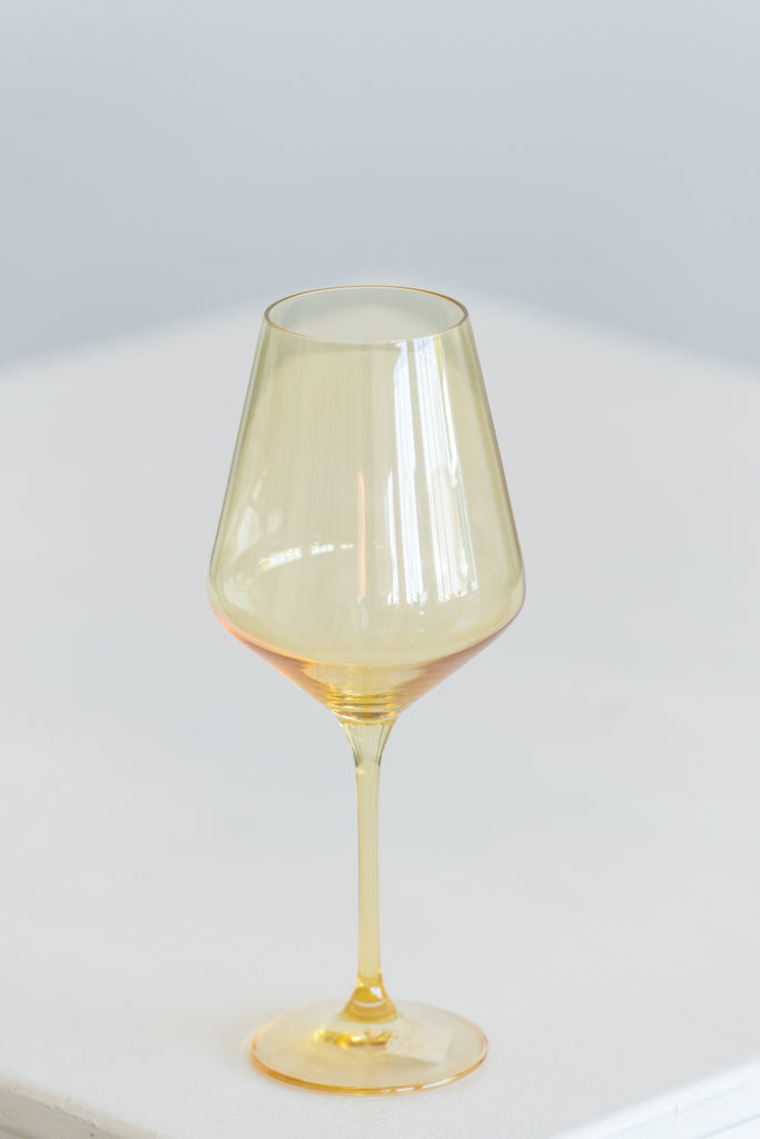 Tableware - Glassware - Color - Yellow Amber