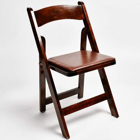 Chair [Folding - walnut padded]